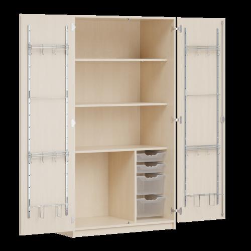 Zweitüriger Musikschrank MOFF 4, mit 4 ErgoTray-Boxen, 3 Einlegeböden