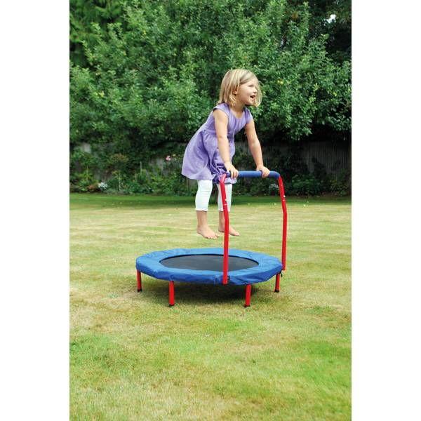trampolin mit haltegriff elementarbereich roth. Black Bedroom Furniture Sets. Home Design Ideas