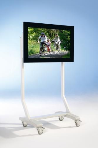 TV Wagen, TV Rack für Fernseher bis 70 Zoll,ScreenCart S, feste Halterung