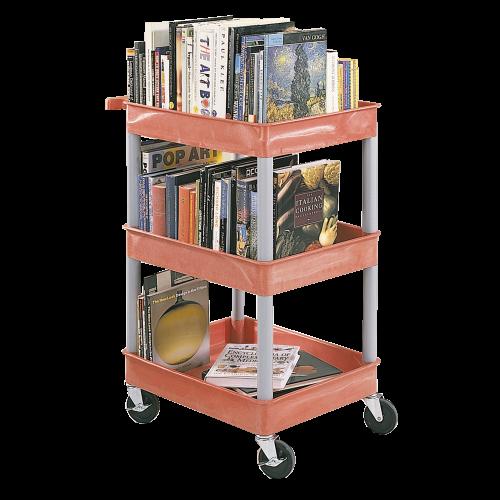 CleverCart Bücherwagen, mit 3 Wannen