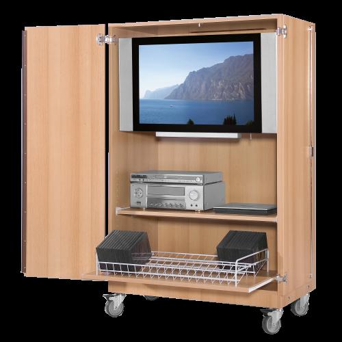 Zweitüriger TV-Wagen mit 1 Einlegeboden