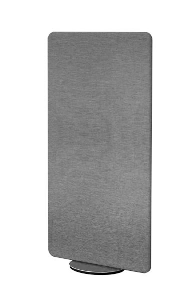 Sichtschutzwand Schallschutz Textilelement Metropol drehbar, grau, Breite 80 cm x Höhe 170 cm