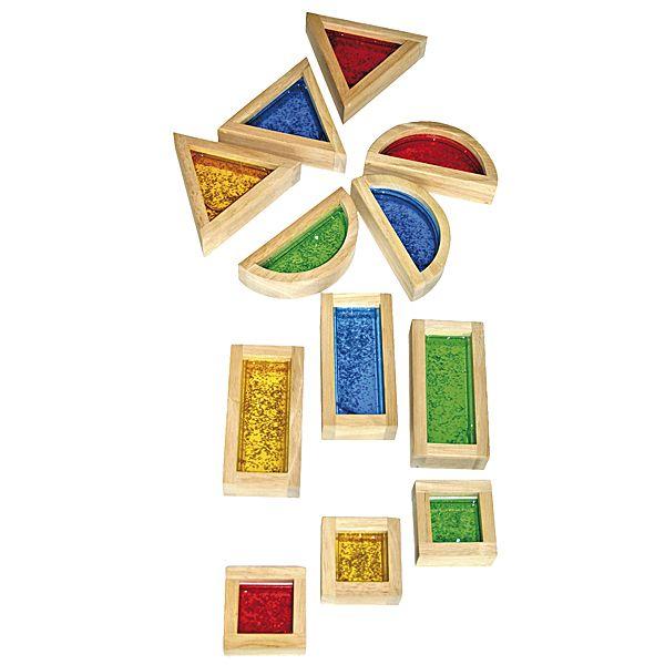Blocks mit Glitter 16 Teile