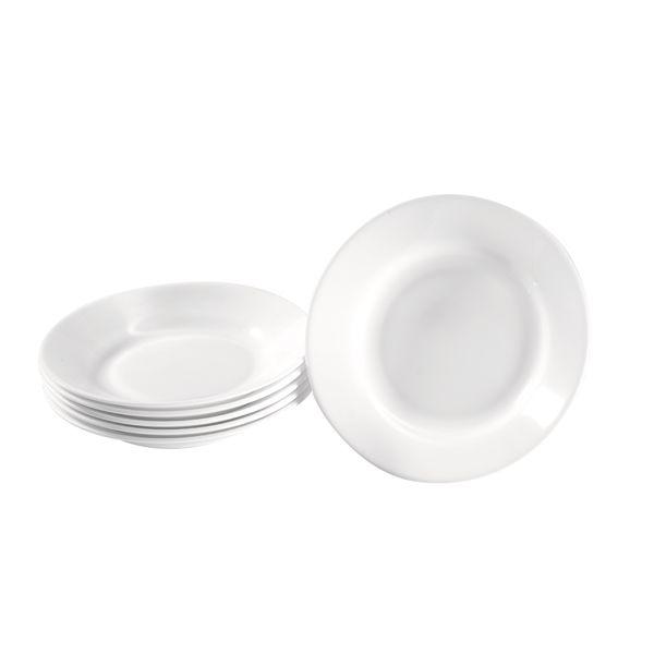 Teller Hartglas tief 6 Stück