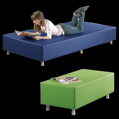 Sitzelement Rechteck passend zur Sofaserie Wellness-Oase
