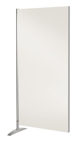 Sichtschutzwand Metropol, Holz-Element, geräuschblockierender Raumteiler, weiß, B: 80 cm x H: 175 cm
