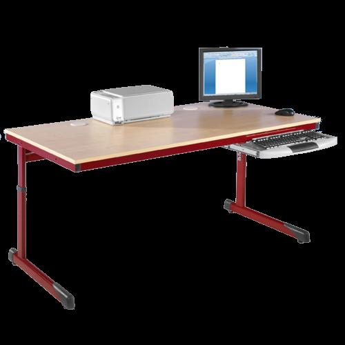 EDV-Tisch, Kufengestell mit Kabelkanal