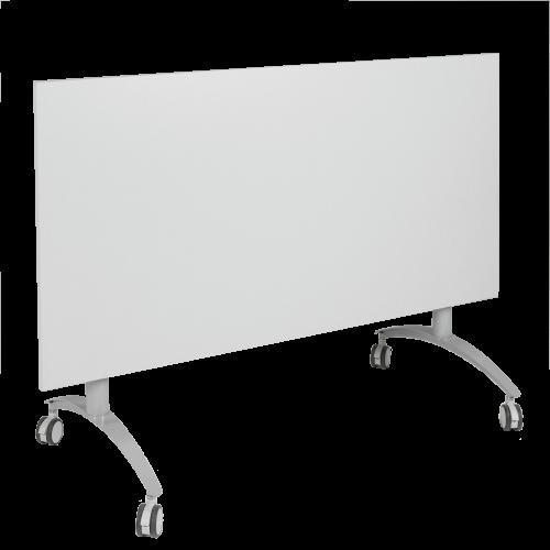 Seitenklapptisch mit Melaminplatte, fahrbar