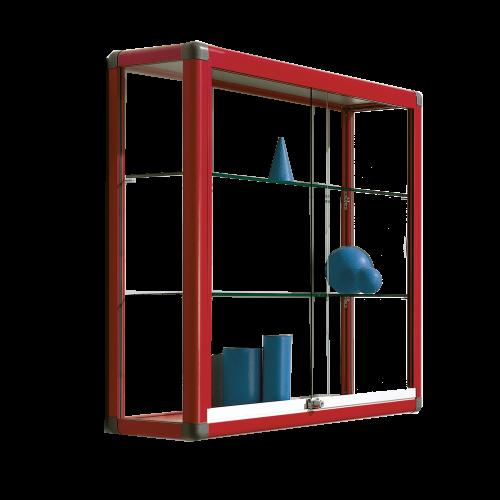 Wandvitrine V16 mit 2 verstellbaren Dickglasböden
