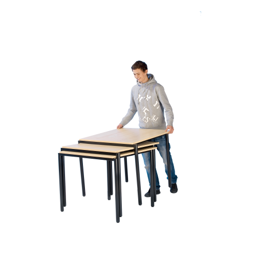 Stack-O-Flex Stapeltisch 80 x 60 cm, fahrbar