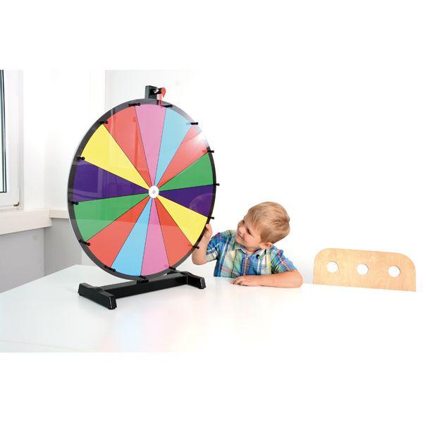 Glücksrad 60 cm farbig inkl. Schwamm & Whiteboardmarker