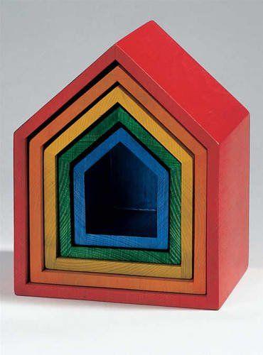 Regenbogen-Häuschen