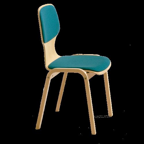 "Holzstuhl ""Carlo"" mit Sitzschale"