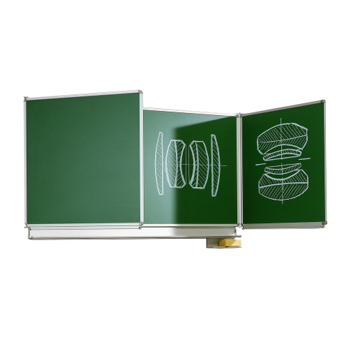 Wandklapptafel aus Premium Stahlemaille in grün, Serie KL-E