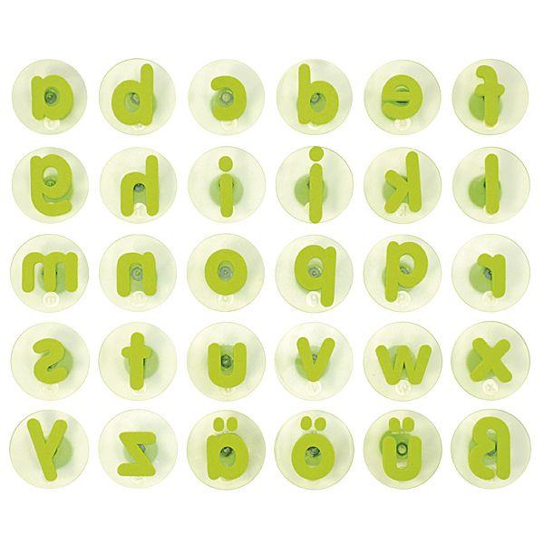 Riesenstempel Kleinbuchstaben 30er Set grün