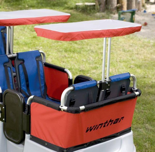 Sonnenschutz für 2 Sitzplätze (für den Turtle Kinderbus Basic für 6 oder 4 Kinder)