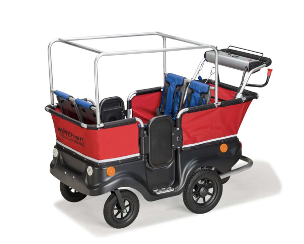 Winther E-Turtle Kinderbus 4-Sitzer mit Elektromotor