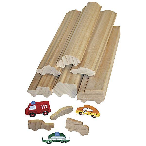 Profilholz Fahrzeuge 6er Set