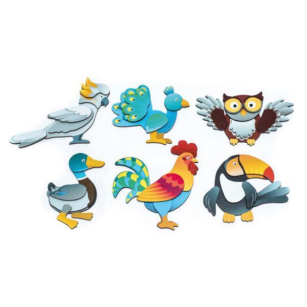 Magnetpuzzle Vögel