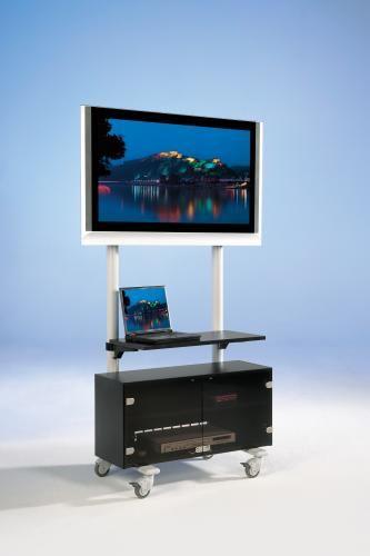TV Wagen, TV Rack für Fernseher bis 50 Zoll mit Unterschrank und Ablage,ScreenCart Serie Design 70,