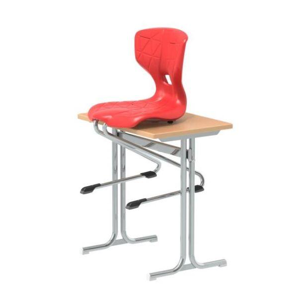 Flex C-Form Gleitkufenstuhl mit Floorsafe Bodenschonern
