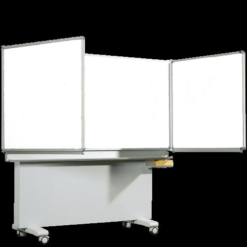 Whiteboard Klappschiebetafel aus Premium Stahlemaille, Serie ME, weiß
