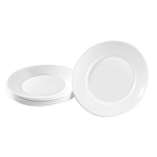 Teller Hartglas klein 6 Stück