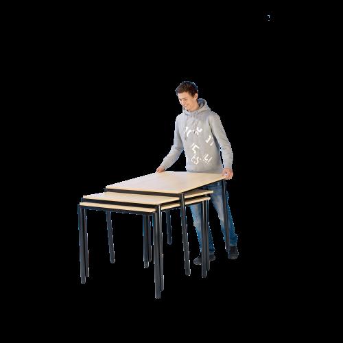 Stack-O-Flex Stapeltisch 140 x 70 cm, fahrbar & stapelbar