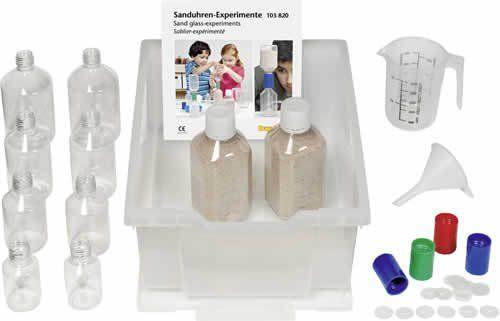 Sanduhren-Experimente Flaschenzeit