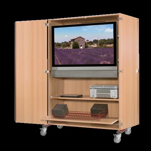 Zweitüriger TV-Wagen mit Rollauszug & Videoauszug
