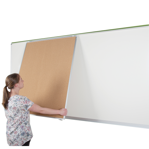 Tafel Klett/Korklinol für XXL Mediarail Wandtafel, doppelseitig