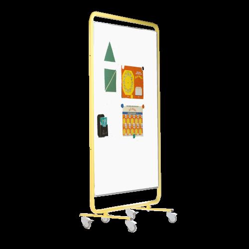 Fahrbare doppelseitiges Whiteboard aus weißer Premium Stahlemaille