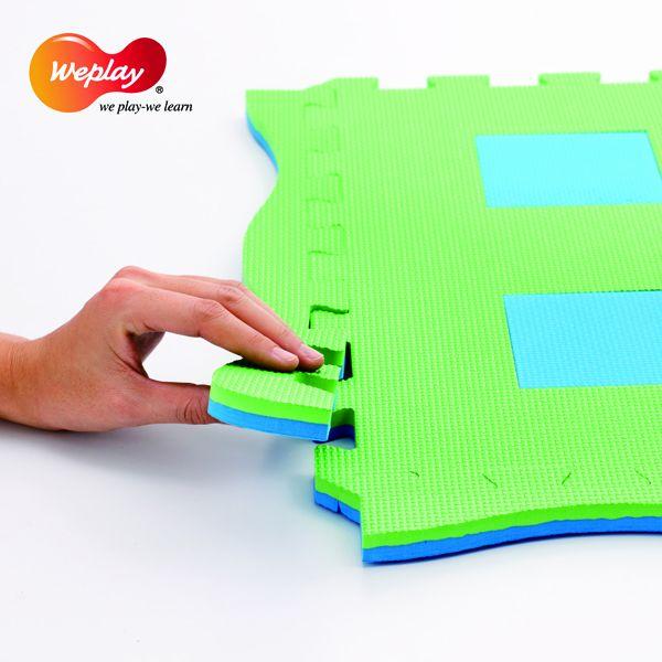 3D Kreativ Spielmatten farbig 9-tlg.