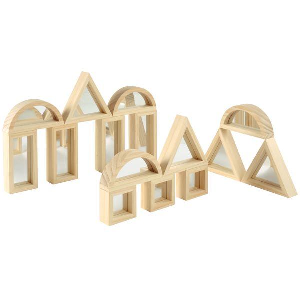 Blocks mit Spiegel 16-teilig