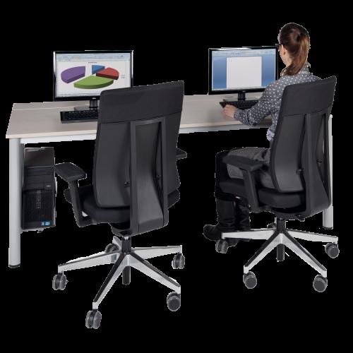 EDV-Computertisch mit Holzkabelkanal