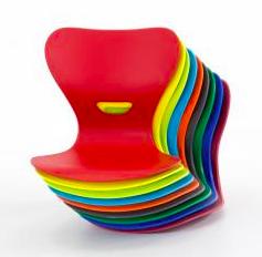 Drehstuhl-Sitzschalenfarben