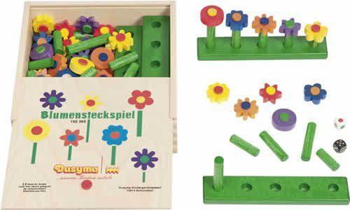 Blumensteckspiel im Holzkasten