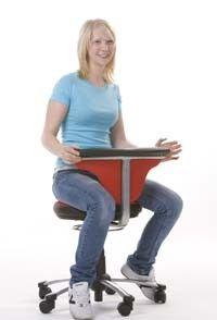 Multi Hocker - Drehstuhl Rückenlehne/Armauflage 360° drehbar