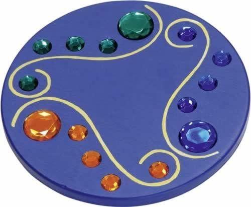 Juwelenkreisel blau
