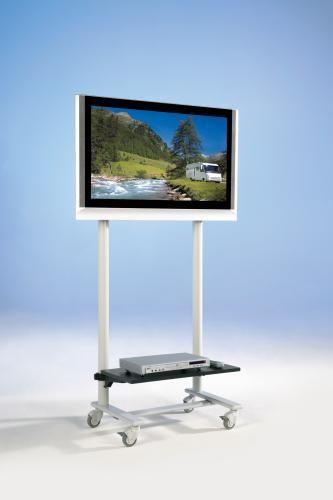 TV Wagen, TV Rack für Fernseher bis 50 Zoll mit 1 Ablage,ScreenCart Serie Design 70, neigbare Halter