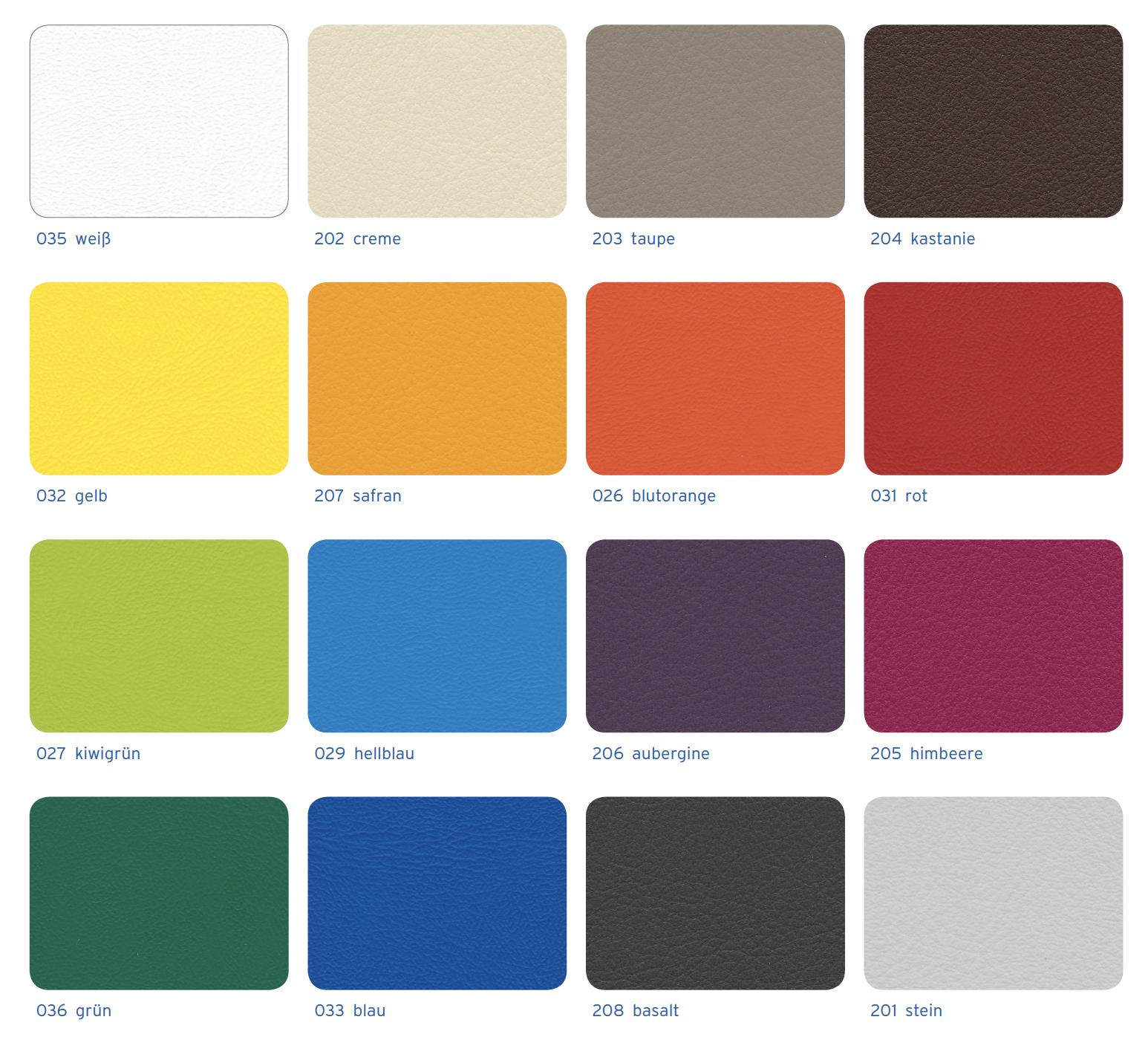 Kunstleder-Farben