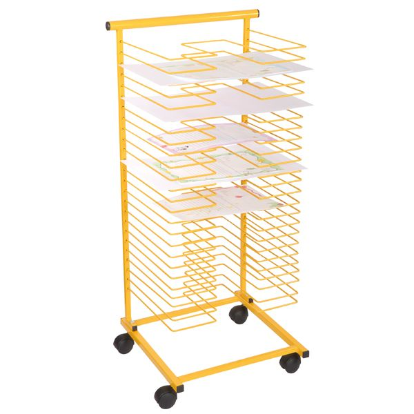 Papiertrockenständer, gelb