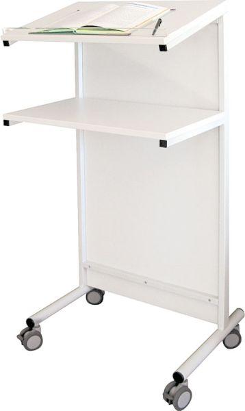 Rednerpult fahrbar BxHxt 60 x 122 x 60 cm