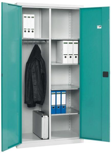 Stahl-Garderobenschrank 120 x 195 x 40 cm