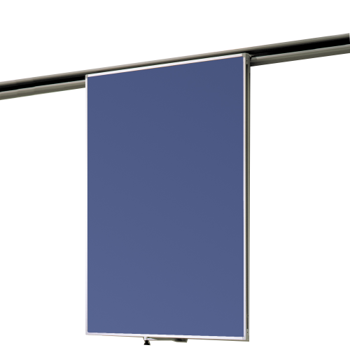 Tafel Stahlemaille blau 2-seitig für Media-Rail 1