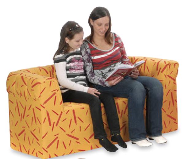 Hort-Zweisitzer-Sofa BxHxT: 140 x 60 x 60 cm Sitzhöhe 37 cm