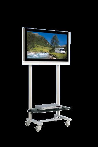 TV Wagen, TV Rack für Fernseher bis 50 Zoll mit 1 Ablage