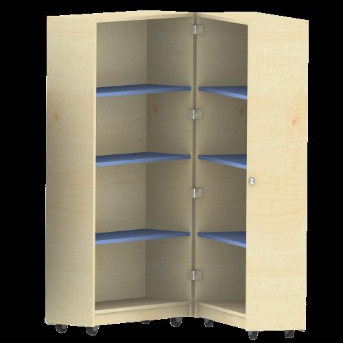 Bücherwagen mit 6 Einlegeböden, zusammenklappbar, fahrbar