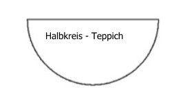 Halbkreis Schenkel 2m Tretford Interland Teppich