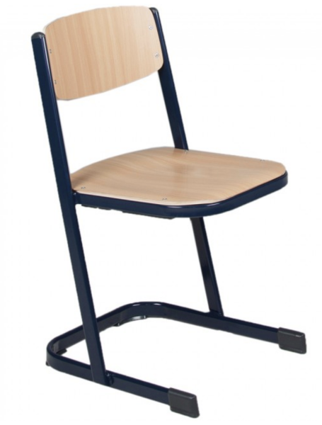 12 Stück Schülerstuhl Schüler-Kufenstuhl Sitzhöhe 30 cm Gestell Zinkgelb - SONDERANGEBOT -